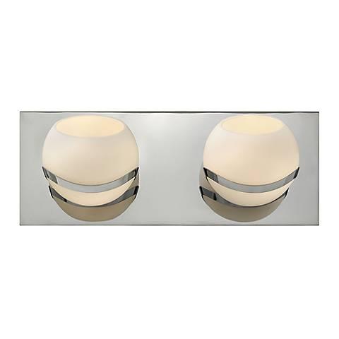 "Hinkley Nova 12 1/2"" Wide Glass and Chrome Bathroom Light"