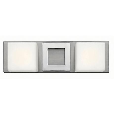 "Hinkley Mirage 15"" Wide Nickel and Chrome Bath Light"