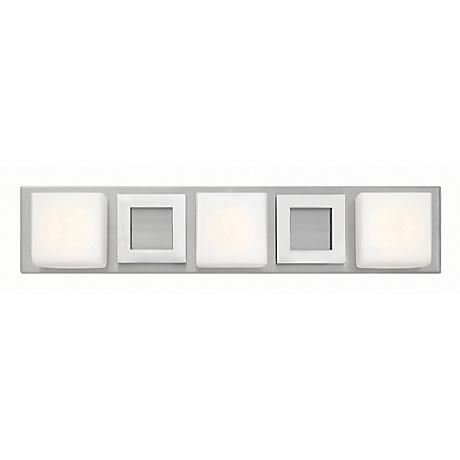 "Hinkley Mirage 24"" Wide Nickel and Chrome Bath Light"