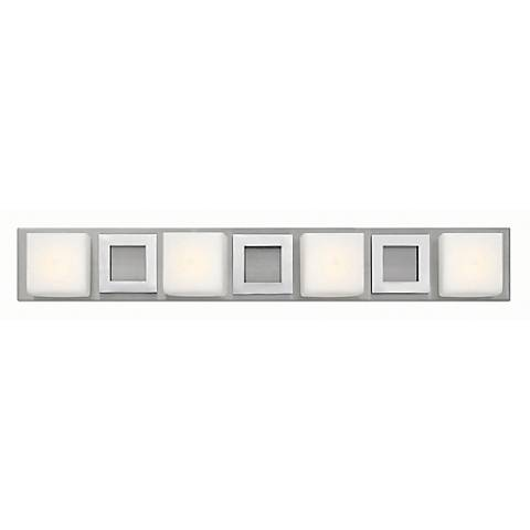 "Hinkley Mirage 32"" Wide Nickel and Chrome Bath Light"
