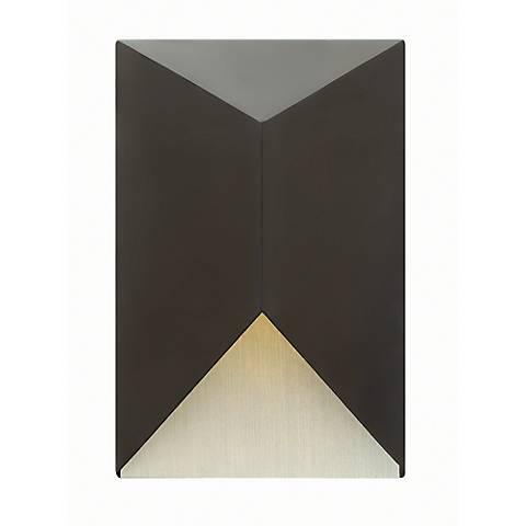 "Hinkley Vento 12"" High LED Satin Black Outdoor Wall Light"