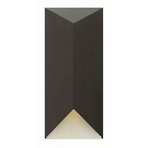 "Hinkley Vento 18"" High LED Satin Black Outdoor Wall Light"