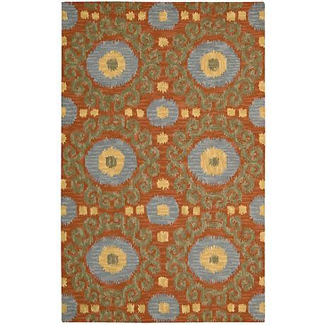 Nourison Siam SIA03 Rust Wool Area Rug