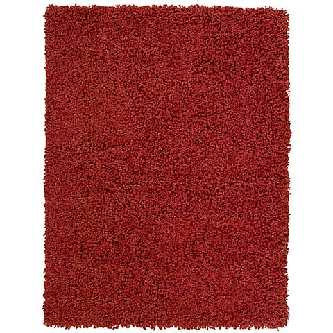 Nourison Zen ZEN01 Red Shag Area Rug
