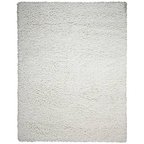 Nourison Zen ZEN01 White Shag Area Rug