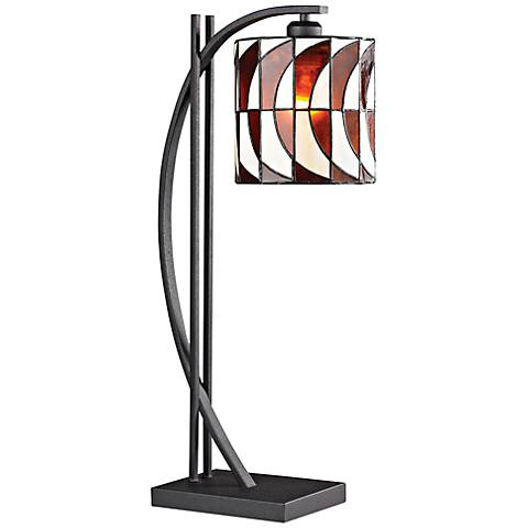 Eastbourne Tiffany Style Iron Arc Table Lamp