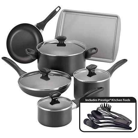 Farberware Nonstick 15-Piece Black Cookware Set