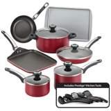 Farberware High Performance 17-Piece Red Cookware Set