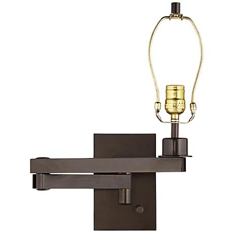 19 bronze plug in swing arm wall lamp base 5d685 lamps plus. Black Bedroom Furniture Sets. Home Design Ideas