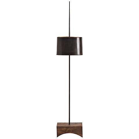 Arteriors Babolsar Black Waxed Iron Floor Lamp