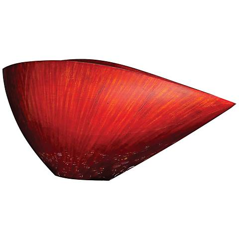 Howard Elliott Small Red Lacquer Asymmetrical V-Shaped Vase