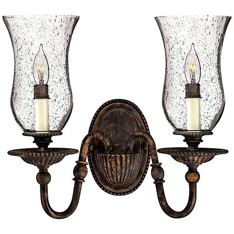 "Rockford 13 1/2"" High Forum Bronze 2-Light Wall Sconce"