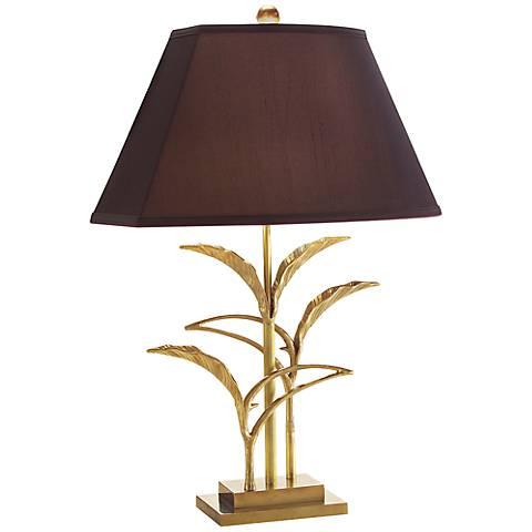 John Richard Leaves Brass Table Lamp