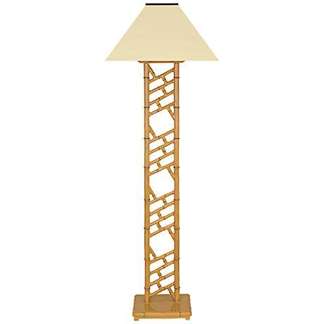 Chelsea Bamboo Indoor-Outdoor Cordless Solar Floor Lamp