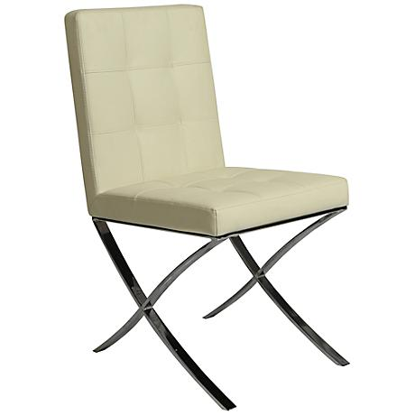 Impacterra Aria Ivory Faux Leather Side Chair