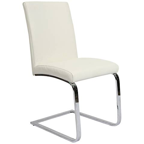 Impacterra Monaco Ivory Faux Leather Side Chair