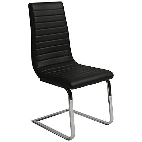 Impacterra Skyline Black Faux Leather Side Chair