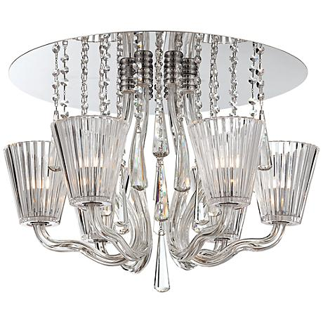 """Corato Collection 21 1/4"""" Wide Clear Crystal Ceiling Light"""