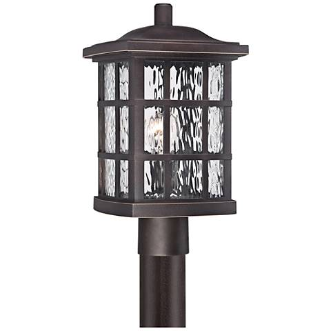"Quoizel Stonington 16 1/2"" High Bronze Outdoor Post Light"