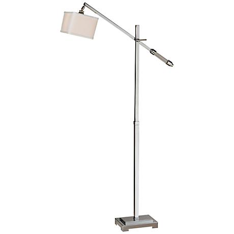 Uttermost Waldron Polished Chrome Tall Floor Lamp