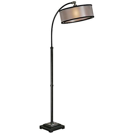 Uttermost Worland Dusty Matte Black Floor Lamp