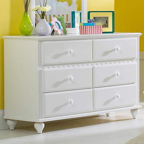 Hillsdale Lauren White 6-Drawer Dresser