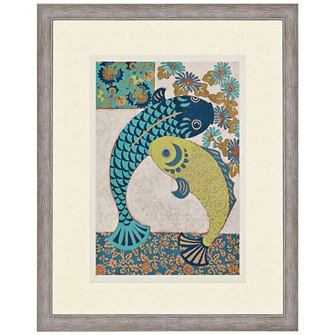 Koi ornament i 38 high giclee framed wall art 5f840 for Koi wall decor