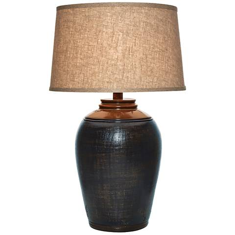 Kearny Indigo Blue Urn Table Lamp