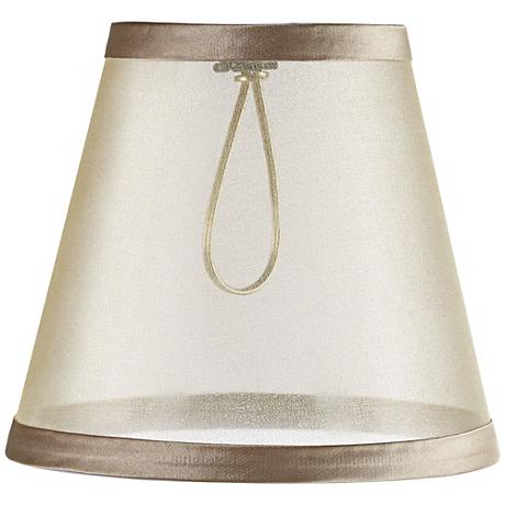 Sheer Cream Lamp Shade 3.25x5.5x5 (Clip-On)