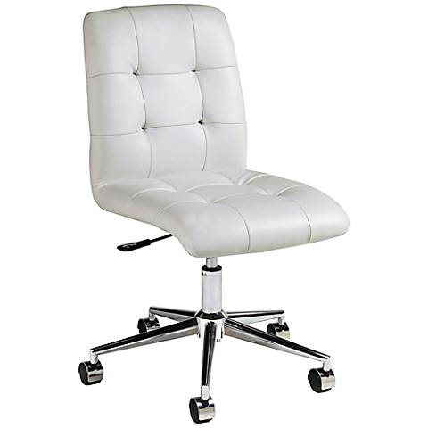 Impacterra Hoquiam Ivory Adjustable Armless Office Chair