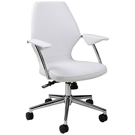 Impacterra Ibanez Ivory Adjustable Office Chair