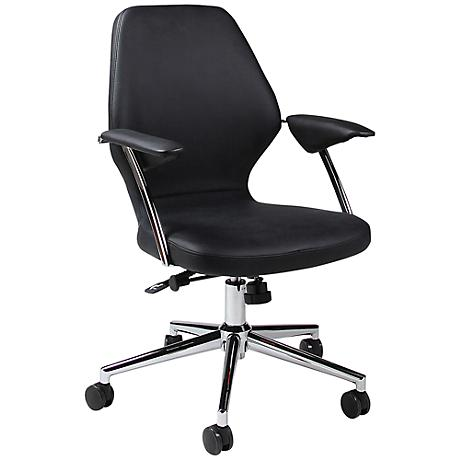 Impacterra Ibanez Black Adjustable Office Chair