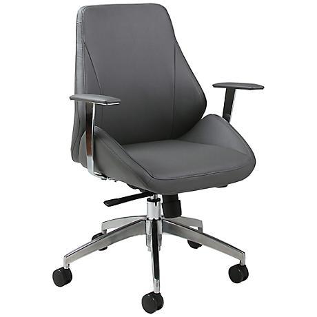 Impacterra Isobella Gray Adjustable Office Chair