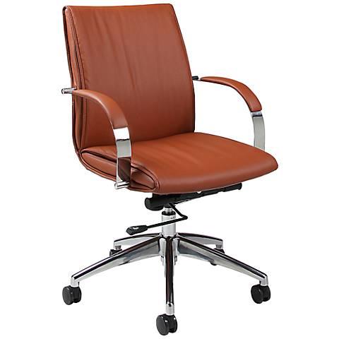Impacterra Josephina Brown Adjustable Office Chair