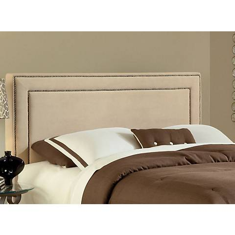 Hillsdale Amber Buckwheat Fabric Headboards