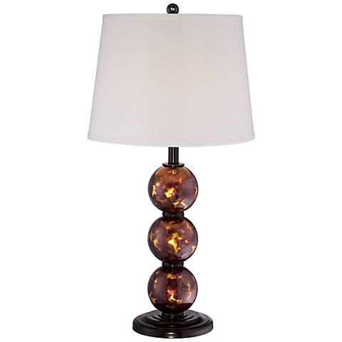 Jasper Bronze Globes Glass Table Lamp
