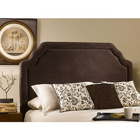 Hillsdale Carlyle Chocolate Fabric Headboards