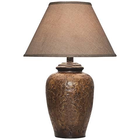 Belville Antique Walnut Urn Table Lamp
