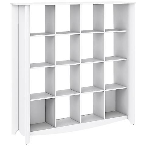 Aero 16-Cube Pure White Bookcase Room Divider