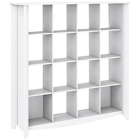 Aero 16-Cube Pure White Bookcase Room Divider