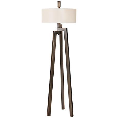 Uttermost Mondovi Bronze and Gold Tripod Floor Lamp