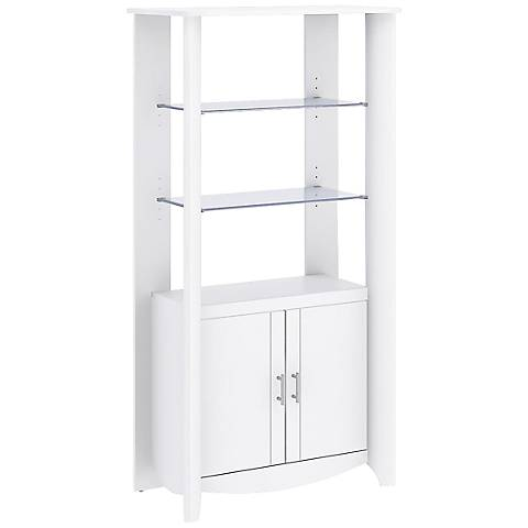 Aero 2-Door Pure White Tall Library Storage