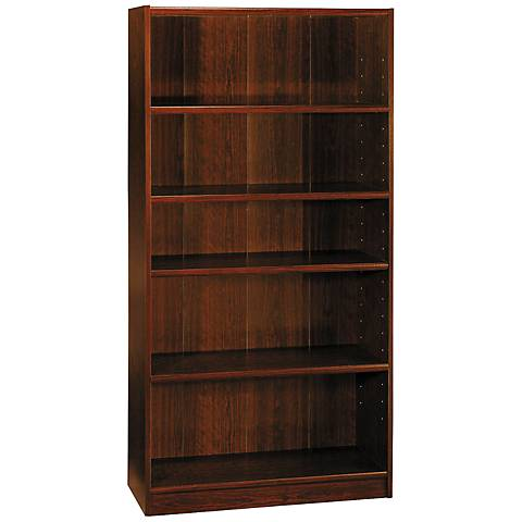 Universal Vogue Cherry 5-Shelf Bookcase