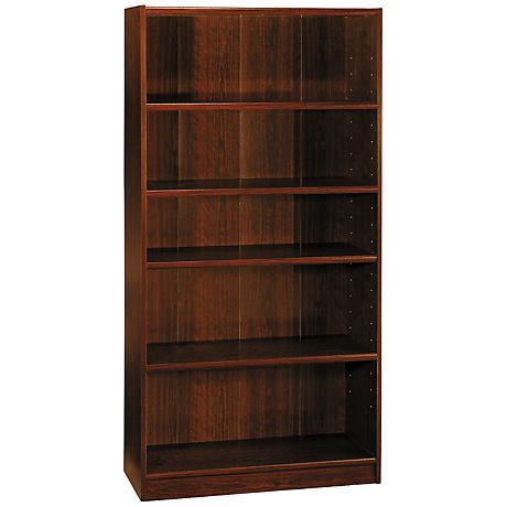 Universal Vogue Cherry 5-Shelf Bookcase