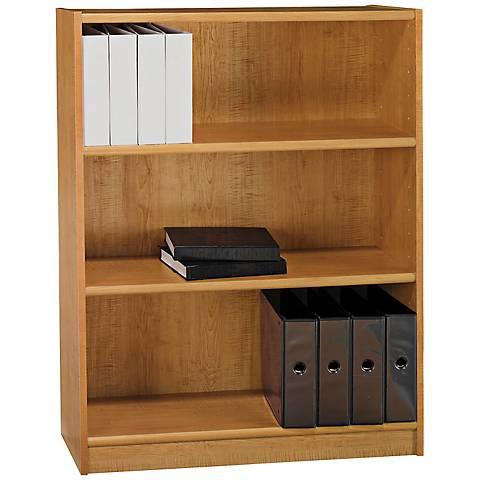 Universal Snow Maple 3-Shelf Bookcase