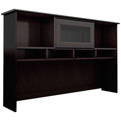 "Cabot 60"" Wide Espresso Oak Overhead Hutch"