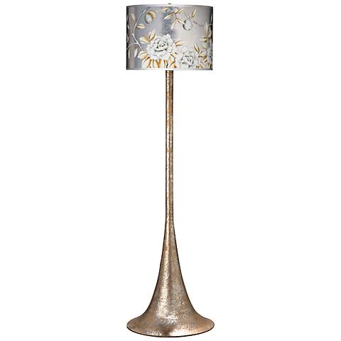 Jamie Young Zanzibar Hammered Metal Floor Lamp