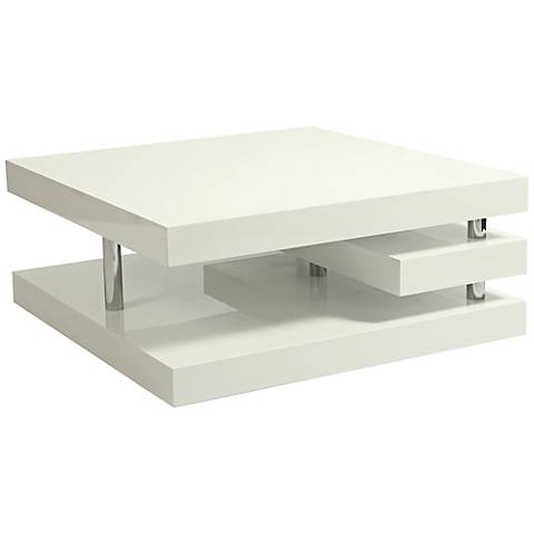 Impacterra Viceroy Glossy White and Chrome Coffee Table
