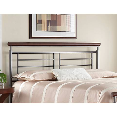 Fontane Silver/Cherry Metal Headboards