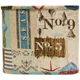 Nautical Patchwork Lamp Shade 11x11x9.5 (Spider)